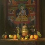 Baber 12155 Tibetan Teapot and Tankat 30 x 24 $7,850